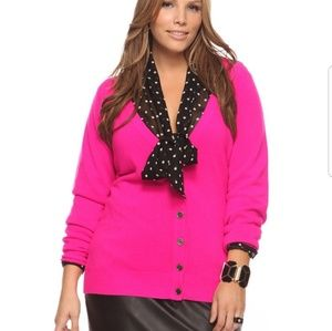Forever21+ hot pink cardigan